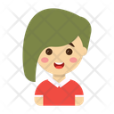 Girl Cartoon Character Icon