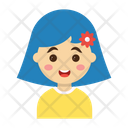 Cartoon Kids Girl Icon