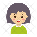 Cartoon Girl Kids Icon