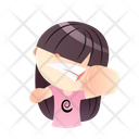 Girl With Fight Mood Icon