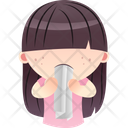 Girl Eating Paper Icon