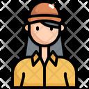 Cap Woman User Icon