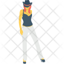 Girl Women Hat Icon