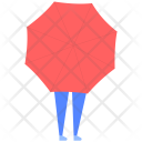 Woman Umbrella Girl Icon