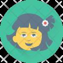 Girl Little Schoolchild Icon