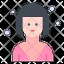 Girl Short Hair User Icon