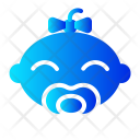 Girl Pacifier Baby Icon