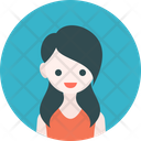 Girl Icon in Rounded Style