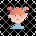 Girl Kid Character Icon