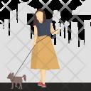 Dog Girl City Icon