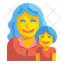 Girl And Mother Icon
