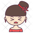 Cute Girl Kid Child Icon