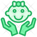 Girl Baby Caring Icon
