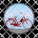 Girl Bike Icon