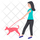 Girl Dog Icon