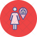 Girl Home House Estate Agent Icon