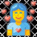 Girl In Love Woman Girl Icon