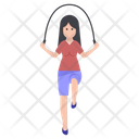Girl Jumping Rope Icon