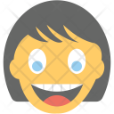 Girl Laughing Emoji Icon