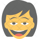 Girl Laughing Icon