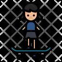 Girl Skater Icon