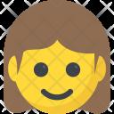 Smiling Girl Emoji Icon