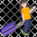 Girl Traveling Female Traveling Tourist Icon
