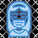 Girl Wear Medical Mask Icon