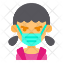Girl Cute Angry Icon
