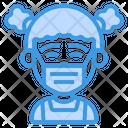 Girl Wearing Medical Mask Icon