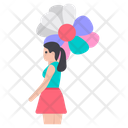 Girl With Balloons Icon