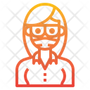 Girl With Facemask Icon