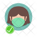 Girl with mask Icon