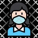 Female Woman Medical Masks Icon
