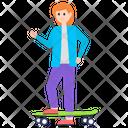 Girl With Skateboard Skateboard Game Outdoor Game Icon