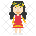 Girl With Wreath Icon