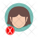 Girl without mask Icon