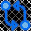 Git Compare Essential Icon