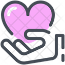 Give Hand Heart Icon