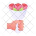 Give Bouquet Bouquet Flowers Icon
