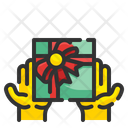 Give Box Hand Gift Icon