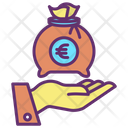 Mmoney Bag Hand Give Euro Pay Icon