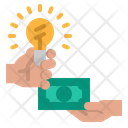 Give Financial Idea Financial Idea Finance Idea Icon