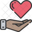 Give Health Heart Health Care Icon