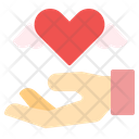Give Heart Charity Love Care Icon