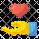 Give Heart Hand Heart Sympathy Icon