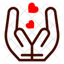 Give Love Care Hands Heart Icon