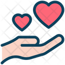 Give Love Hand Heart Icon