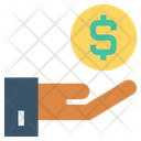 Hand Holding Coin Money Finance Icon