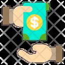 Hand Money Exchange Icon